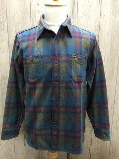 フェローズ 20W-720WS ヘビーウェイト フランネルシャツ B.GRY チェック ワークシャツ PHERROW'S