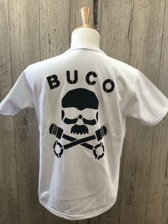 リアルマッコイズ/ BUCO BC21001 スカルピストン WHT ポケット付き半袖Tシャツ  THE REAL McCOY'S ブコ SKULL PISTON