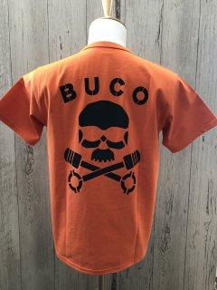 リアルマッコイズ/ BUCO BC21001 スカルピストン ORG ポケット付き半袖Tシャツ  THE REAL McCOY'S ブコ SKULL PISTON