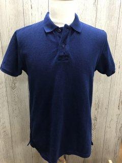 UES /ウエス  インディゴポロシャツ 67LW-I 吊り鹿の子 藍染 半袖ポロシャツ オリジナル