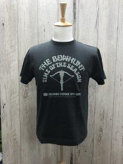コリンボ ZW-0422 半袖プリントTシャツ ザ・ボウハント チャコール THE BOWHUNT  COLIMBO ルナパーク
