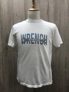 UES/ウエス 652103 WHT WRENCHTシャツ レンチ 半袖プリントTシャツ ビンテージ加工