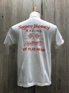 フラットヘッド FN-THC-017 WHT SUPER HONEY スーパーハニー スピードキング 半袖プリントTシャツ FLAT HEAD
