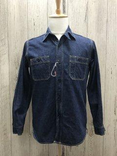 リアルマッコイズ  MS18101 長袖デニム ワークシャツ 8HU DENIM サービスマンシャツ  THE REAL McCOY'S ジョーマッコイ