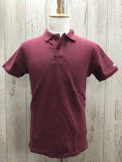 UES/ウエス 67LW 吊り鹿の子ポロシャツ ワイン 半袖ポロ