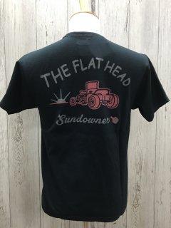 フラットヘッド FN-THC-020 BLK SUNDOWNER  サンダウナー 半袖プリントTシャツ FLAT HEAD