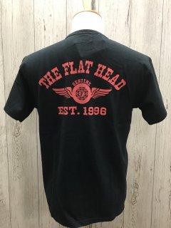 フラットヘッド FN-THC-002 BLK FLYING WHEEL フライングホイール 半袖プリントTシャツ FLAT HEAD