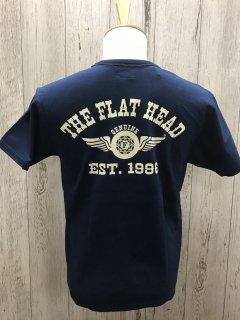 フラットヘッド FN-THC-002 NVY  FLYING WHEEL フライングホイール 半袖プリントTシャツ FLAT HEAD