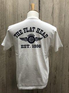 フラットヘッド FN-THC-002 WHT FLYING WHEEL フライングホイール 半袖プリントTシャツ FLAT HEAD