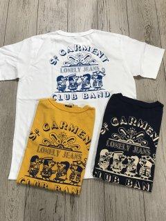 ステュディオ・ダルチザン 【8041A】  USAコットン SD.GARMENT LONLY JEANS CLUB BAND プリントTシャツ STUDIO D´ARTISAN