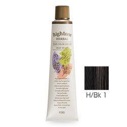 【2剤プレゼント】フォードヘア化粧品 ハイトーンハーバル H/Bk 1(ブラック)120g(医薬部外品)