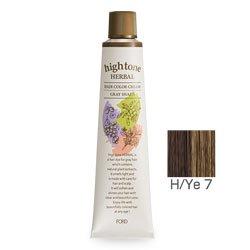 【2剤プレゼント】フォードヘア化粧品 ハイトーンハーバル H/Ye 7(イエローブラウン)120g(医薬部外品)