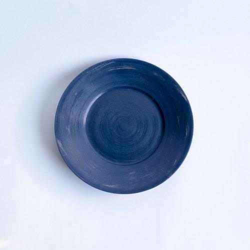 堀宏治 / ブループレート 漆(20cm)