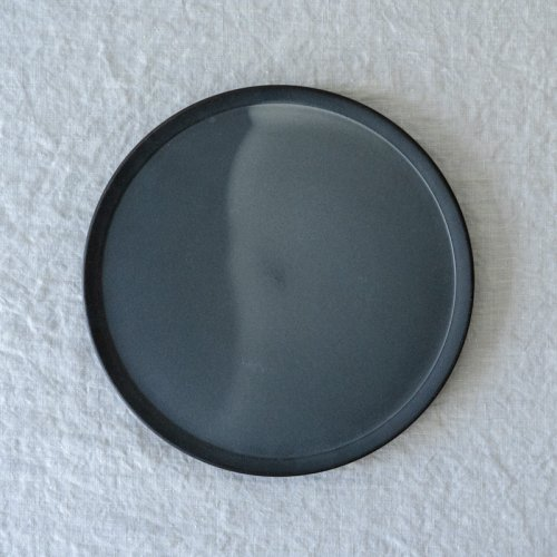 3RD CERAMICS / 黒泥皿 8寸