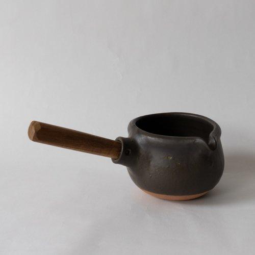 馬場勝文 / 耐熱ミルクパン (黒) 左利き用
