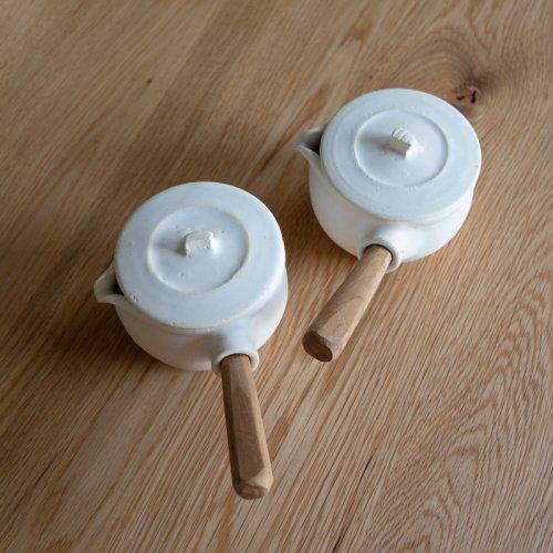 馬場勝文 / 耐熱ふた付きミルクパン (白)