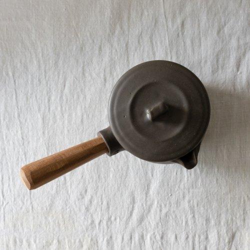 馬場勝文 / 耐熱ふた付きミルクパン (黒)左利き用