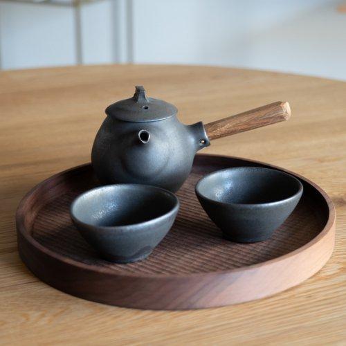 馬場勝文 / 黒釉急須 (しずく)