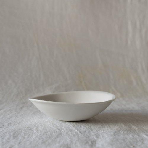 馬場勝文 / 白磁マット たたら豆鉢