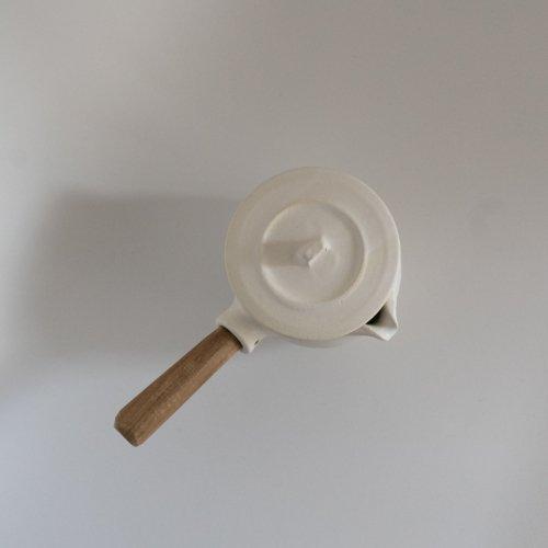 馬場勝文 / 耐熱ふた付きミルクパン(白・左利き用)