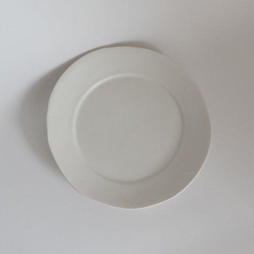 馬場勝文 / 白磁マット リム8寸皿(size-6)