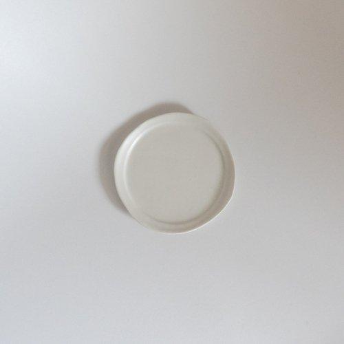 馬場勝文 / 白磁マット リム細豆皿