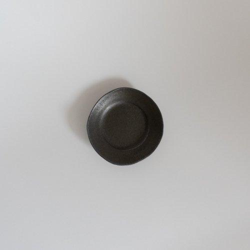 馬場勝文 / 黒釉 リム豆皿