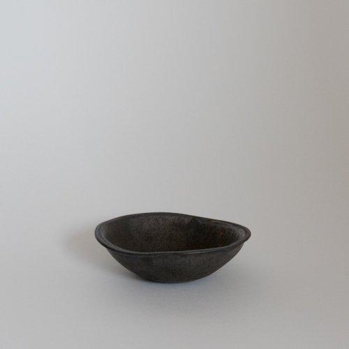 馬場勝文 / 黒釉 たたら豆鉢