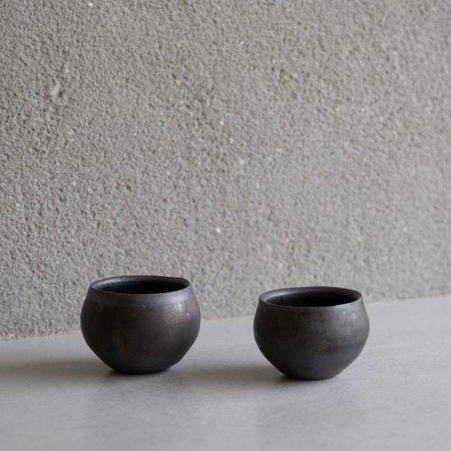 馬場勝文 / 黒釉 丸カップ(小)