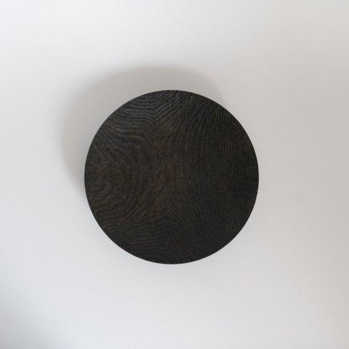 村上圭一 / 彫目皿 栗黒(20cm)