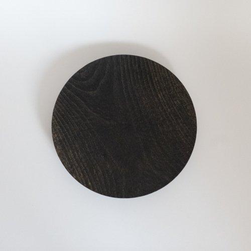 村上圭一 / 彫目皿 栗黒(24cm)