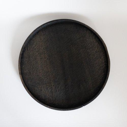 村上圭一 / 彫目盆 栗黒(30cm)