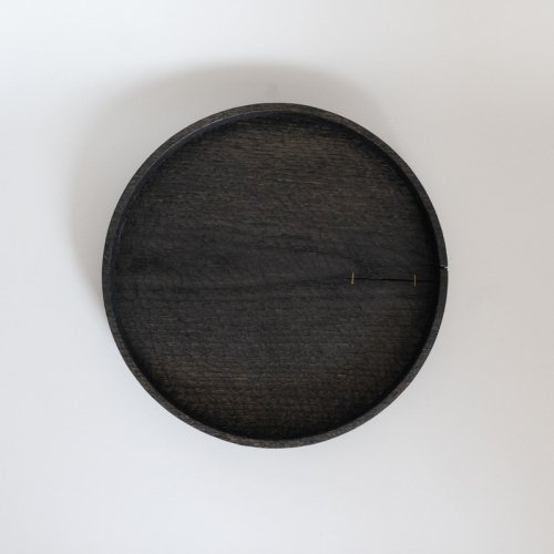 村上圭一 / 彫目盆 栗黒(24cm)