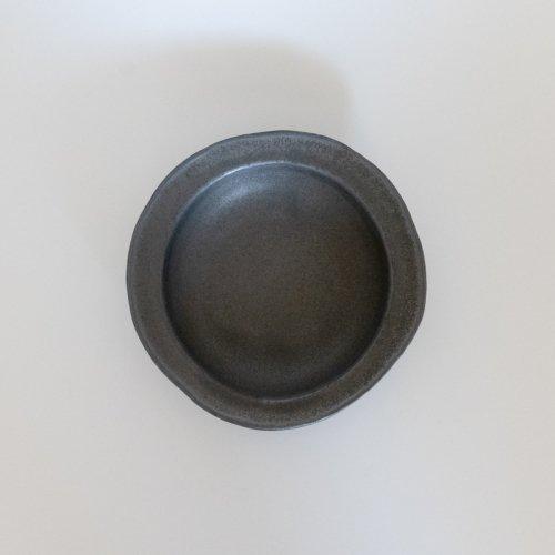馬場勝文 / 黒釉リム深鉢(中)