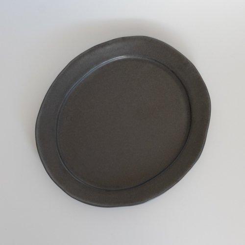 馬場勝文 / 黒釉リムオーバル皿 size-4