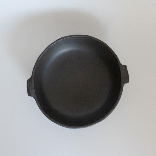 馬場勝文 / 耐熱グラタン皿・黒(丸・中)