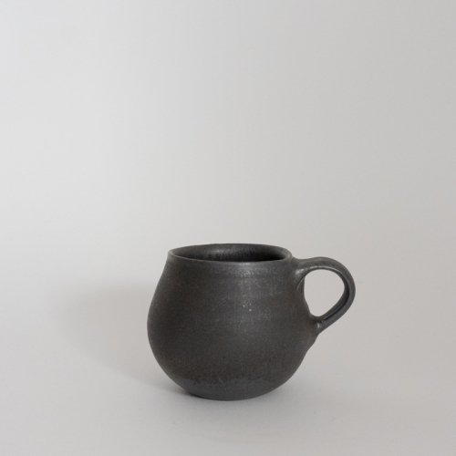 馬場勝文 / 黒釉BHマグ(丸)