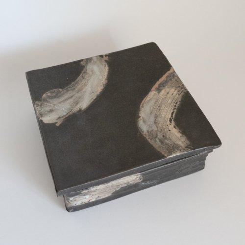 馬場勝文 / 黒釉陶箱(一重)