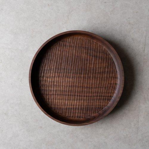 【再入荷】堀宏治 / 深丸盆 ブラックウォルナット(24.5cm)