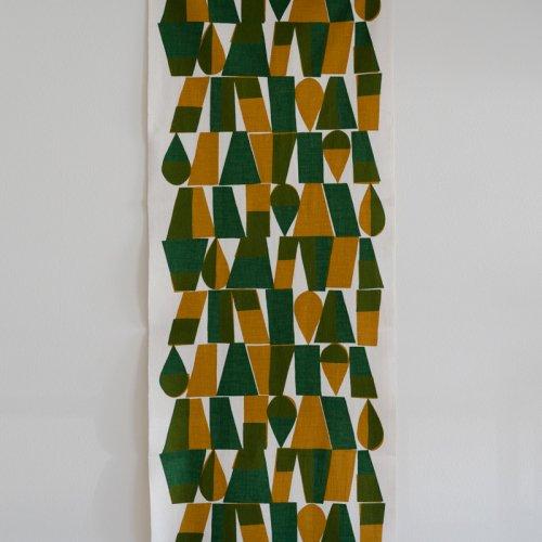 柚木沙弥郎 / 小巾布 「幾何文 緑」 シルクスクリーン(手捺染)