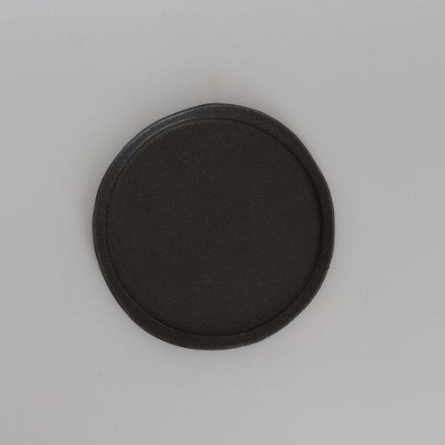 馬場勝文 / 黒釉リム細皿 20cm
