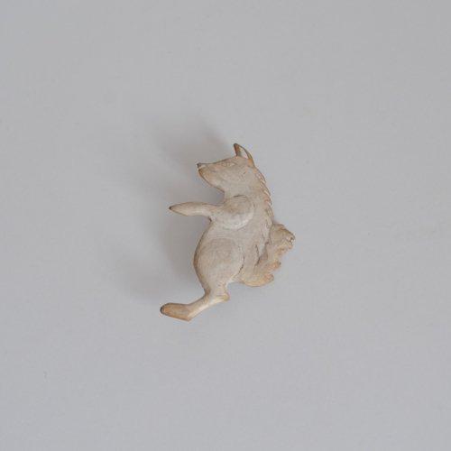 竹村聡子 / 銀獣ブローチ オオカミ