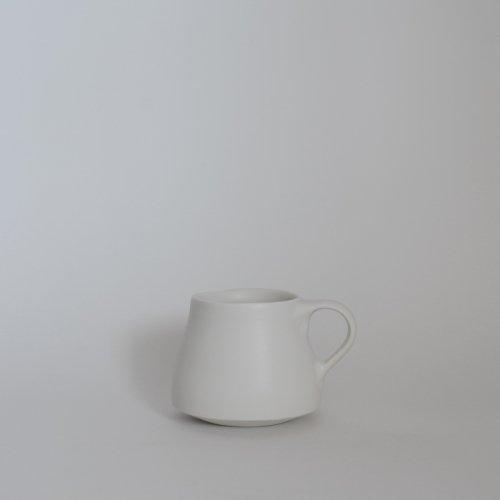 馬場勝文 / 白磁マットBHマグ(角)