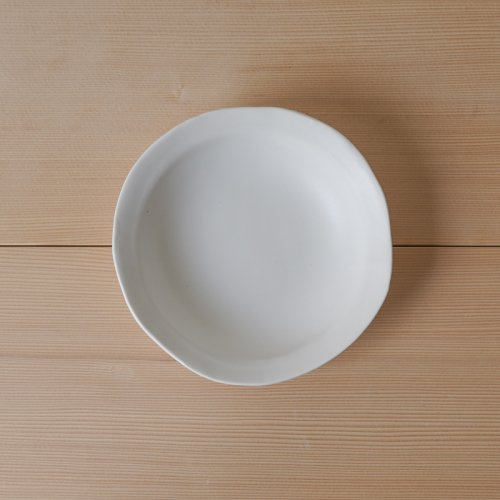 馬場勝文 / 白磁マットリム深鉢(中)