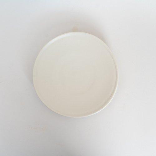 馬場勝文 / 白磁マット 6寸皿