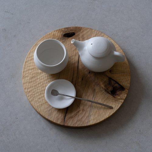 馬場勝文 / 白磁マット ティーポット・小(D)