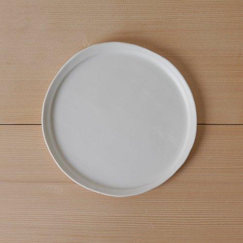 馬場勝文 / 白磁マットリム細皿 20cm