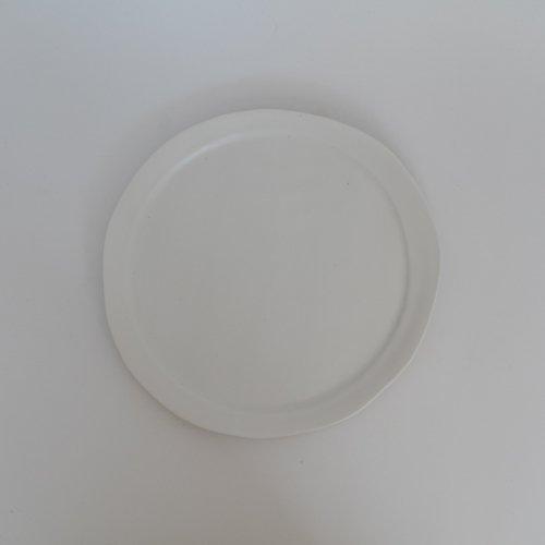 馬場勝文 / 白磁マットリム細8寸皿