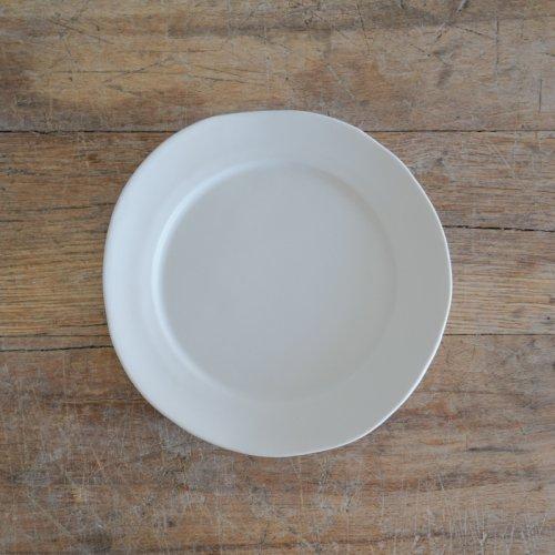 馬場勝文 / 白磁マット リム20cm皿