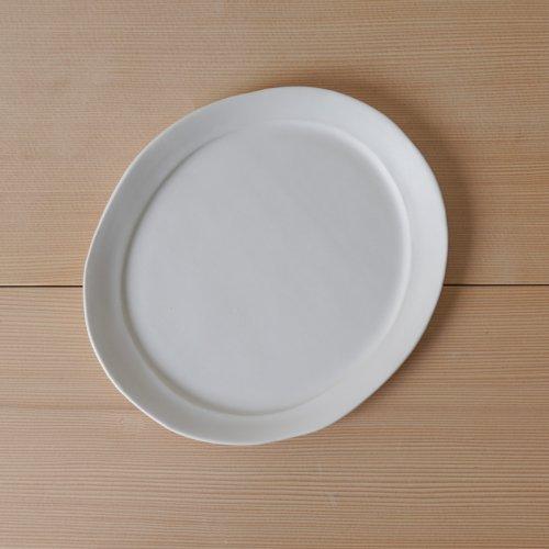馬場勝文 / 白磁マットリムオーバル皿 size-3